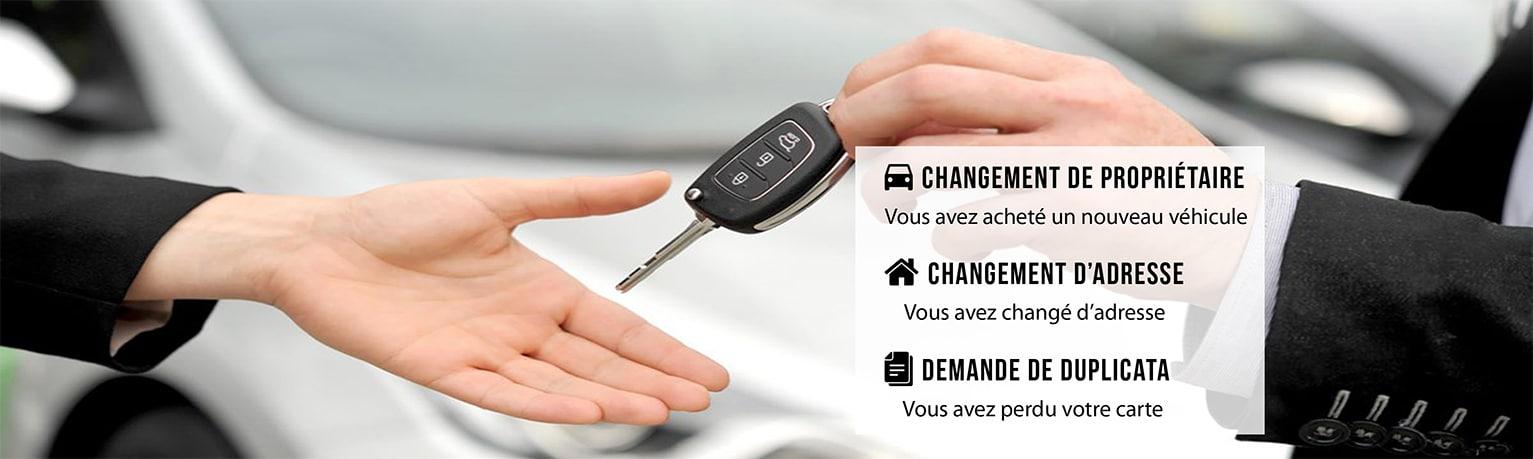 carte grise achat changement véhicule